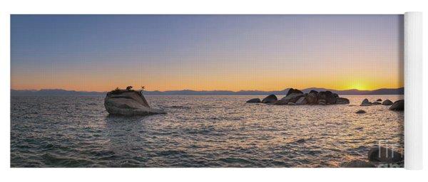 Lake Tahoe Sunset Panorama Yoga Mat