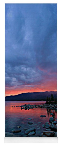 Lake Tahoe Sunset Portrait 2 Yoga Mat