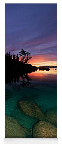 Lake Tahoe Sunset Portrait Yoga Mat