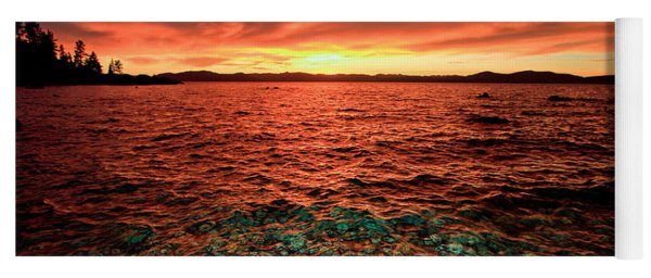 Lake Tahoe...blood Moon Sunset Yoga Mat