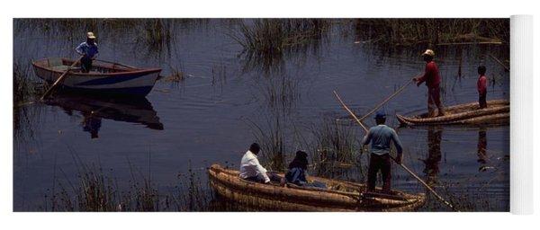 Lake Titicaca Reed Boats Yoga Mat
