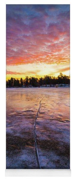 Lake Winnipesaukee January Sunrise Yoga Mat