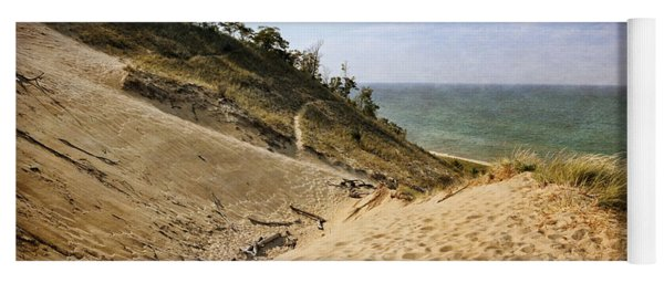 Yoga Mat featuring the photograph Laketown Dune Panorama by Michelle Calkins