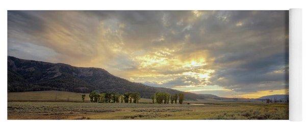 Lamar Valley Sunset Yoga Mat