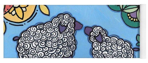 Lamb And Mama Sheep Yoga Mat