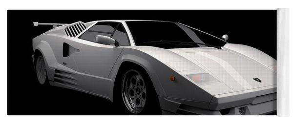 Lamborghini Countach 5000 Qv 25th Anniversary Yoga Mat