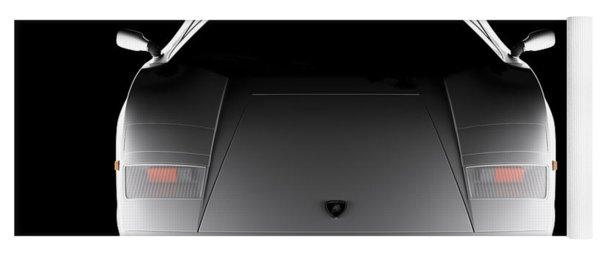Lamborghini Countach 5000 Qv 25th Anniversary - Front View  Yoga Mat