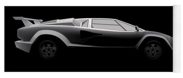 Lamborghini Countach 5000 Qv 25th Anniversary - Side View Yoga Mat