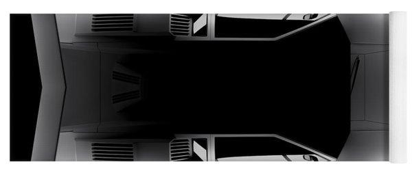 Lamborghini Countach 5000 Qv 25th Anniversary - Top View Yoga Mat