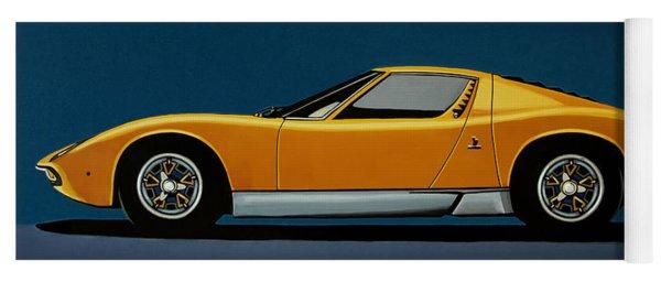 Lamborghini Miura 1966 Painting Yoga Mat