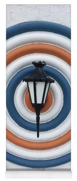 Yoga Mat featuring the photograph Lamp Hits The Bullseye by Matthew Wolf