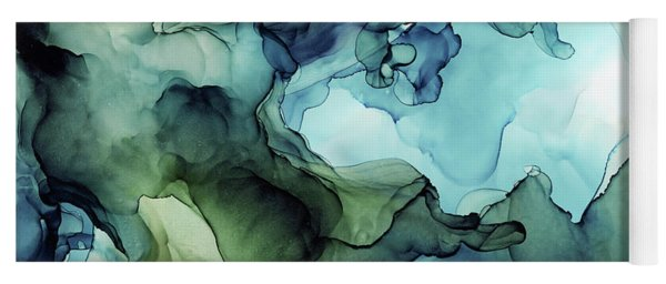 Land And Water Abstract Ink Painting Yoga Mat