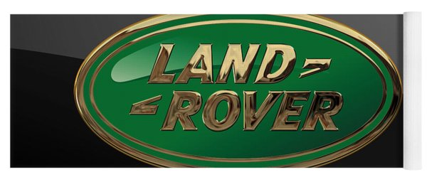 Land Rover - 3d Badge On Black Yoga Mat