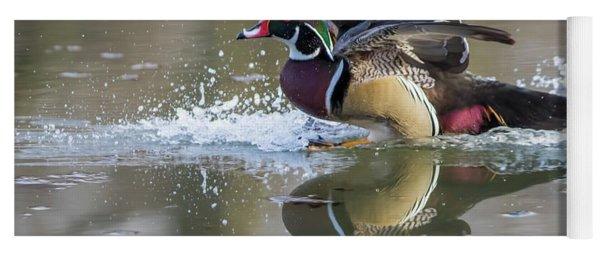 Landing Wood Duck  Yoga Mat