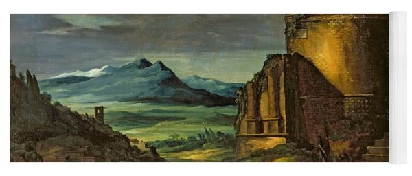 Landscape With A Tomb  Yoga Mat