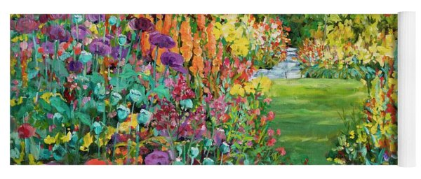 Landscape With Poppies Yoga Mat