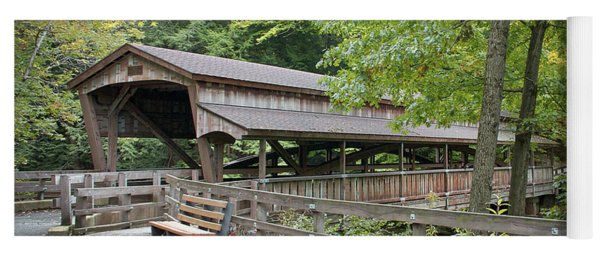 Lanterman's Mill Covered Bridge Yoga Mat