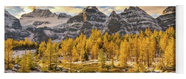 Larch Valley Golden Larches Landscape Yoga Mat