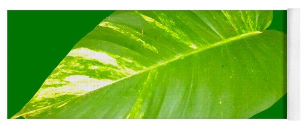 Large Leaf Art Yoga Mat