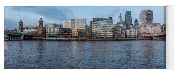 Large Panorama Of Downtown London Betwen The London Bridge And T Yoga Mat