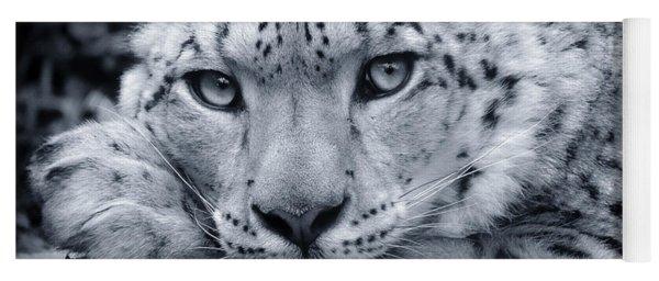 Large Snow Leopard Portrait Yoga Mat