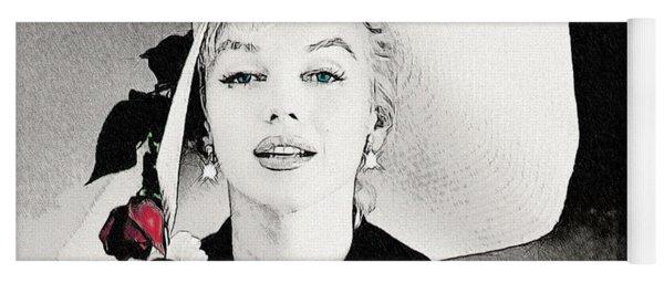 Large White Hat -marilyn Monroe  - Sketch Yoga Mat
