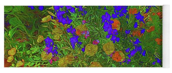 Larkspur And Primrose Garden 12018-3 Yoga Mat