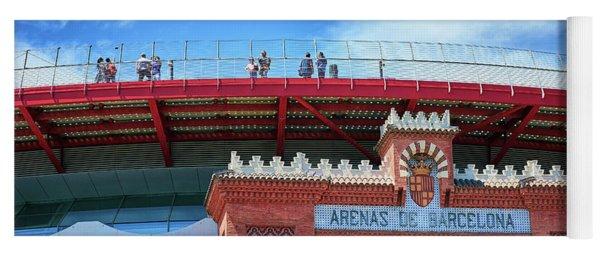 Yoga Mat featuring the photograph Las Arenas Building In Barcelona by Eduardo Jose Accorinti