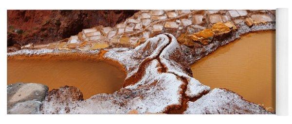Las Salineras Salt Terraces At Maras Peru Yoga Mat