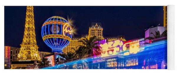 Las Vegas Strip Light Show Yoga Mat