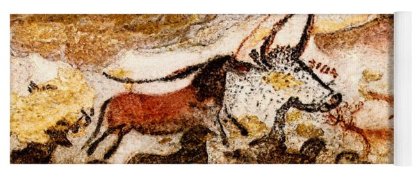 Lascaux Hall Of The Bulls - Horses And Aurochs Yoga Mat