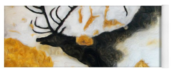 Lascaux Megaceros Deer Yoga Mat