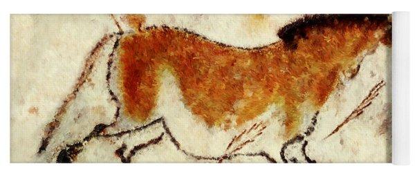 Lascaux Prehistoric Horse Yoga Mat