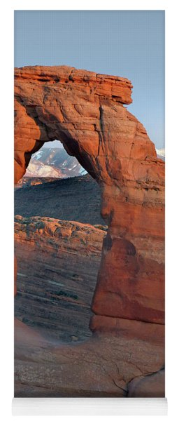 Last Light On Delicate Arch  Yoga Mat