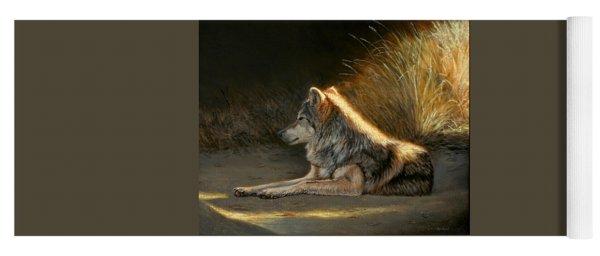 Last Light - Wolf Yoga Mat