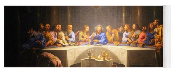 Last Supper Meeting Yoga Mat