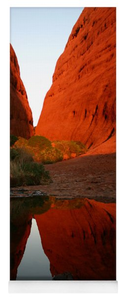 Late Afternoon Light And Reflections At Kata Tjuta In The Northern Territory Yoga Mat