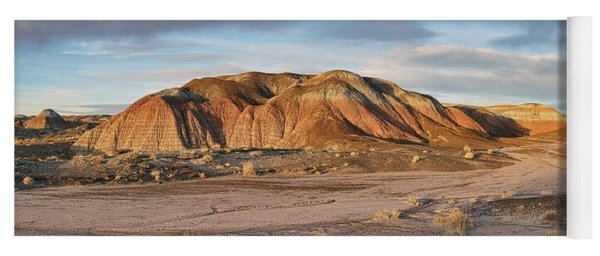 Late Light At Painted Desert Yoga Mat