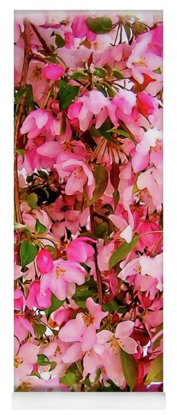 Late Snow Early Flowers Yoga Mat