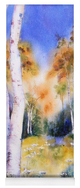 Late Summer Birches Yoga Mat
