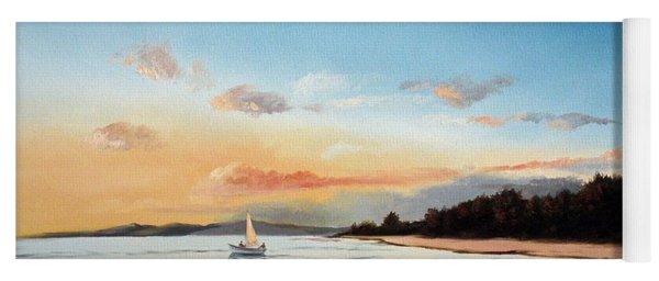 Late Sunset Along The Beach Yoga Mat
