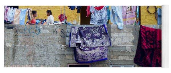 Laundry In Guanajuato Yoga Mat