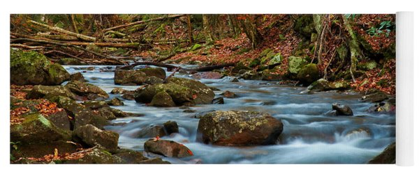 Laurel Fork In The Fall Yoga Mat