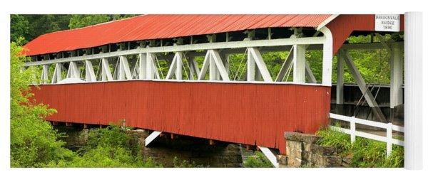 Laurel Hill Creek Covered Bridge Yoga Mat