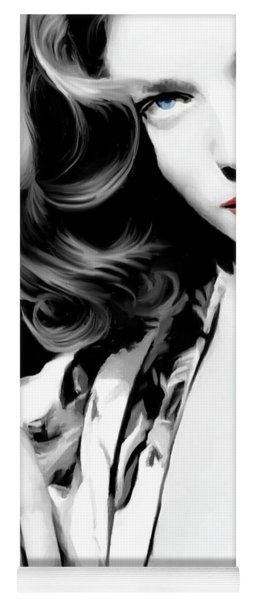 Lauren Bacall Large Size Portrait 2 Yoga Mat