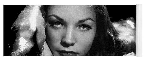 Lauren Bacall Publicity Photo Circa 1945-2015 Yoga Mat
