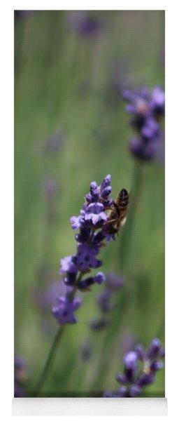 Lavender And Honey Bee Yoga Mat