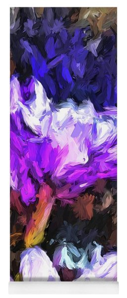 Lavender And White Flower With Reflection Yoga Mat