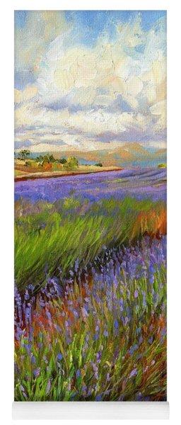 Lavender Field Yoga Mat