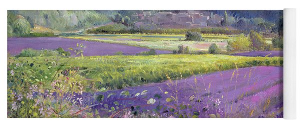 Lavender Fields In Old Provence Yoga Mat